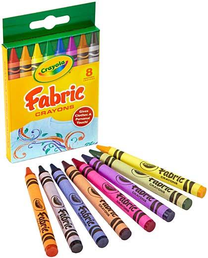 Crayola Fabric Crayons - Primary (8pk)