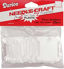 SO: Darice Plastic Floss Bobbins (25pk)