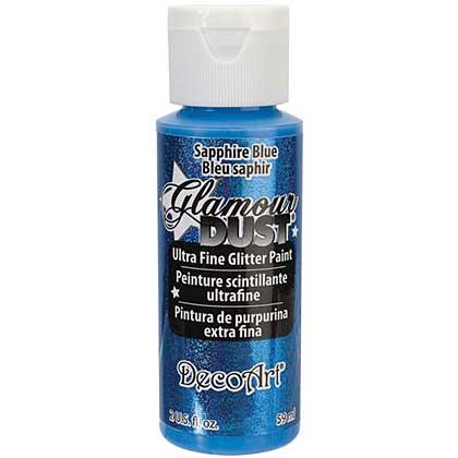 SO: Glamour Dust Glitter Paint 2oz - Saphire Blue