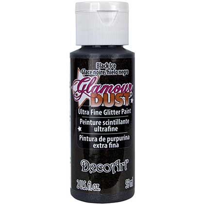 SO: Glamour Dust Glitter Paint 2oz - Black Ice