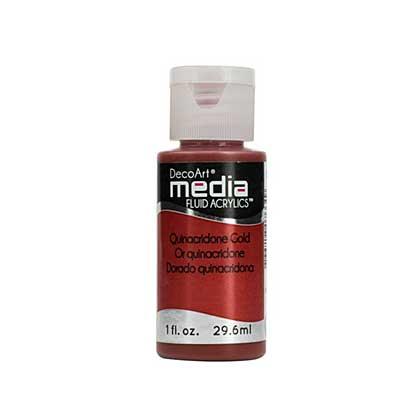 SO: Media Paint (Media Fluid Acrylics) - Quinacridone Gold (1 oz)