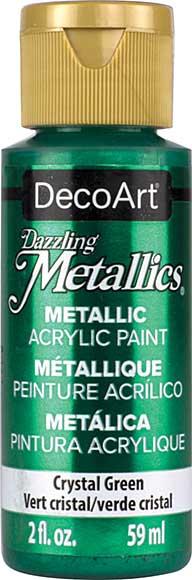 Dazzling Metallics Acrylic Paint 2oz - Crystal Green