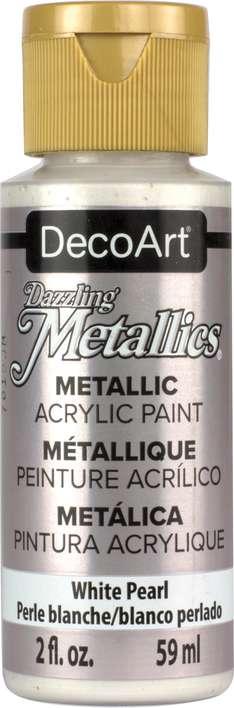 DecoArt Dazzling Metallics Acrylic Paint 2oz - White Pearl