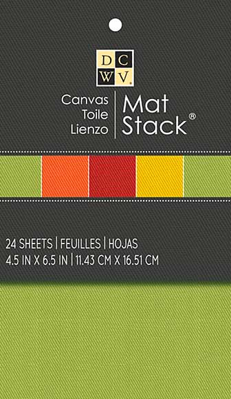 DCWV Canvas Mat Stack 4.5in x 6.5in - 24 Sheets
