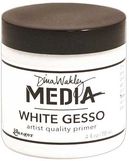 Dina Wakley Media Gesso 4oz Jar - White