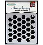 SO: Donna Downey Signature Stencils 8.5x8.5 - Honeycomb Splatter