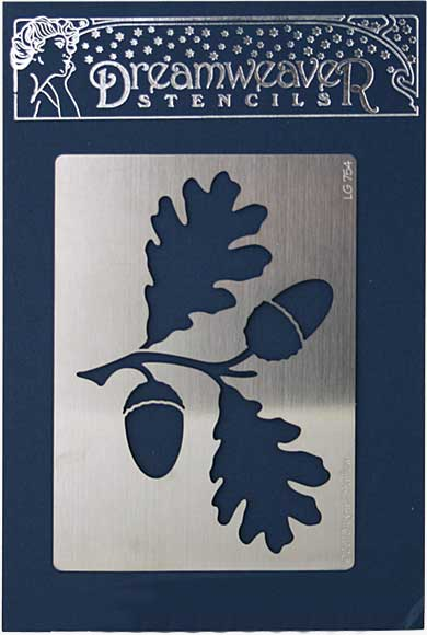 SO: Dreamweaver Stencil - Large Oak Leaves