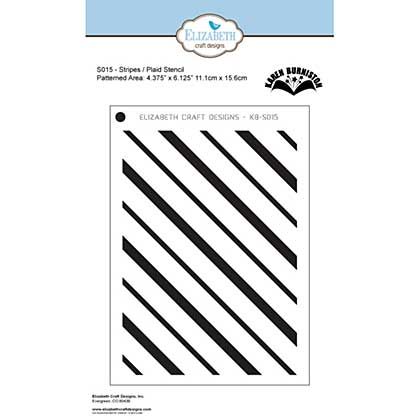 Elizabeth Craft Designs Stripes Plaid Stage it Stencil