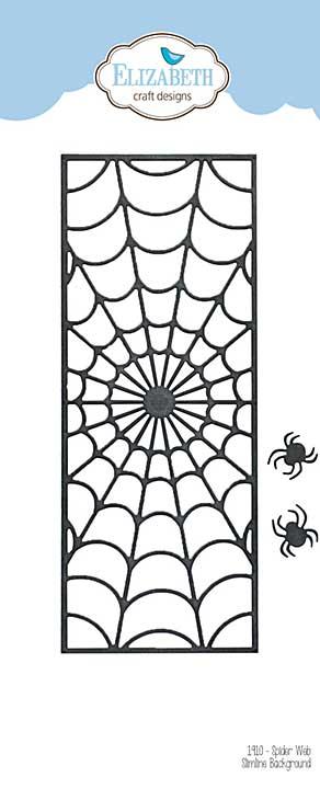 SO: Elizabeth Craft Designs - Spider Web Slimline Background with Spiders (Harvest)