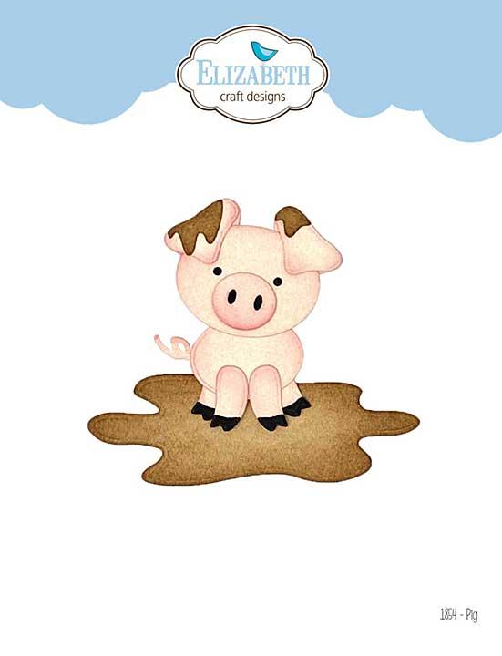 Elizabeth Craft Designs - Pig (on the Farm)