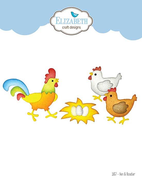 Elizabeth Craft Designs - Hens (on the Farm)