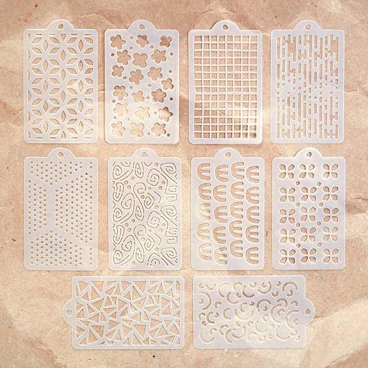 ECD Happy Patterns (Art Journal Stencils Pack)