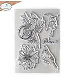 Elizabeth Craft Designs - Peace Clear Stamp Set (Blooms 2)