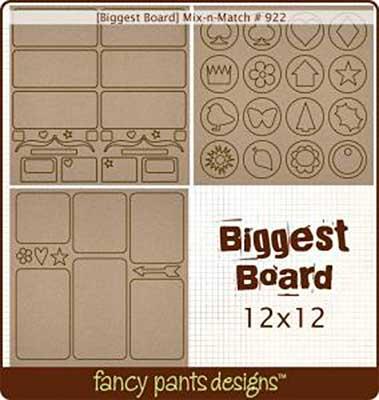 Biggest Board - Mix-n-Match (12x12 3 styles #922)