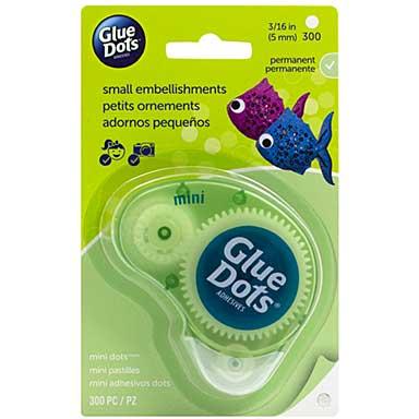 SO: Glue Dots Clear Dot Disposable Dispenser - Mini .1875 300pk