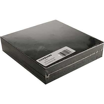 Chipboard Sheets 6x6 - Black, Medium Weight (25pk)