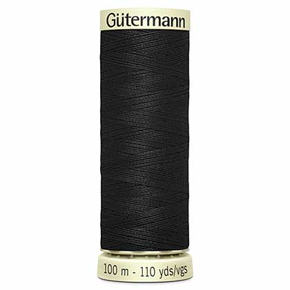 Gutermann Sew All - Polyester Sewing Thread, Black (100m)