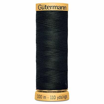 Gutermann Cotton Sewing Thread, Dark Green (100m)