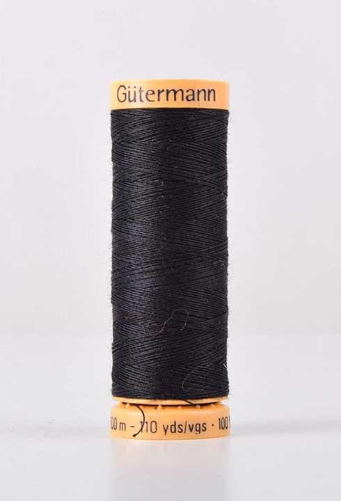 Gutermann Cotton Sewing Thread, Dark Black (100m)