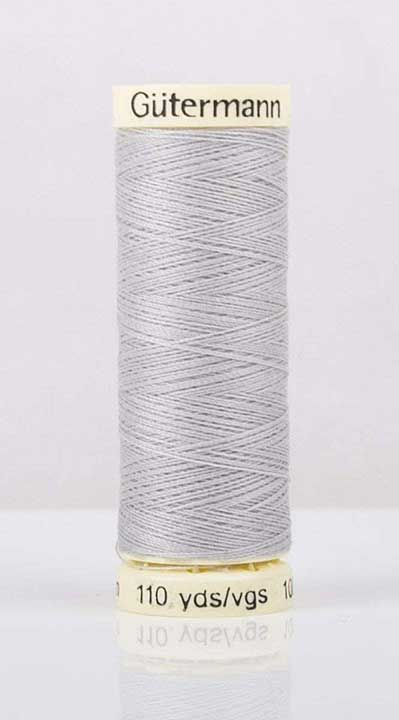 Gutermann Sew All - Polyester Sewing Thread, Silver Grey (100m)
