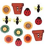 Dress It Up Embellishments - Bugs and Blooms