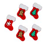 SO: Jesse James Dress It Up Buttons - Holiday Embellishments - Stockings (5 pc)