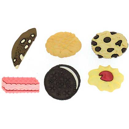 SO: Jesse James Dress It Up Buttons - In The Cookie Jar (10 pc)