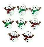 SO: Jesse James Dress It Up Buttons - Holiday Embellishments - Sew Cute Snowman (8 pc)