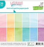 Lawn Fawn Watercolor Wishes - 6x6 Single-Sided Petite Paper Pack 36pk (12 Designs 3 Each)