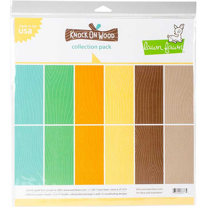 Lawn Fawn Knock on Wood -12x12 Double-Sided Paper Pack 12pk (6 Designs, 2 Each)