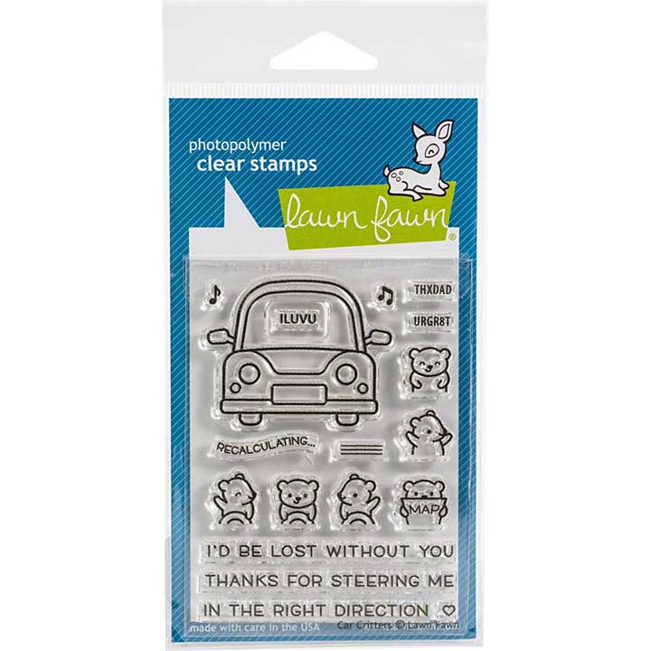 Lawn Fawn Clear Stamps - Car Critters (3x4)