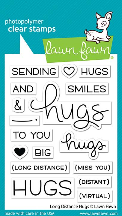 Lawn Fawn Clear Stamps 3X4 - Long Distance Hugs