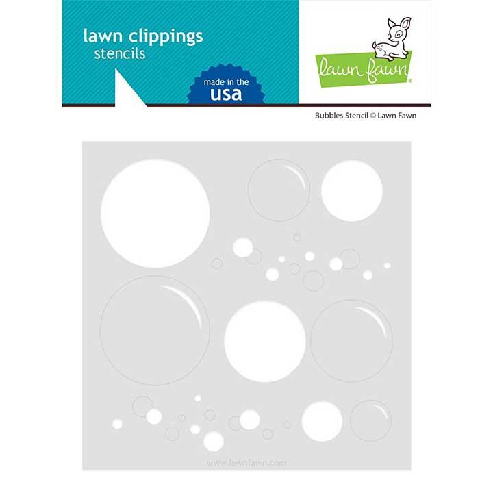 Lawn Clippings Stencils - Big Bubble