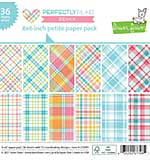 Lawn Fawn - Perfectly Plaid Remix - Single-Sided Petite Paper Pack (6x6 36 sheets)