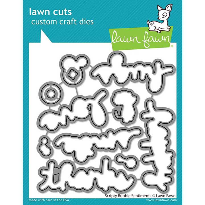 Lawn Cuts Custom Craft Die - Scripty Bubble Sentiments
