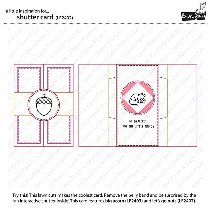 Lawn Cuts Custom Craft Die - Shutter Card