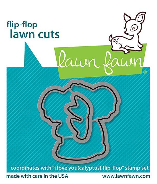 Lawn Cuts Custom Craft Die - I Love You (Calyptus) Flip-Flop