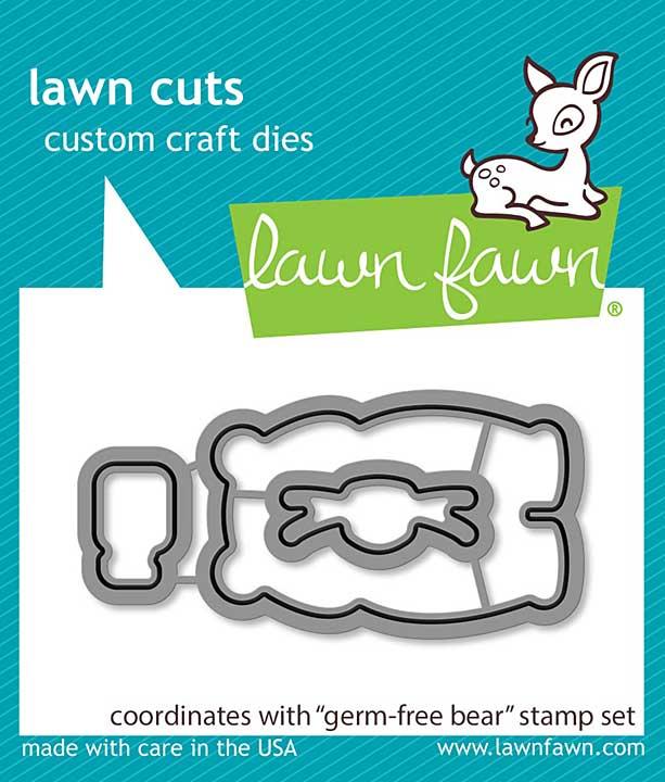 Lawn Cuts Custom Craft Die - Germ-Free Bear