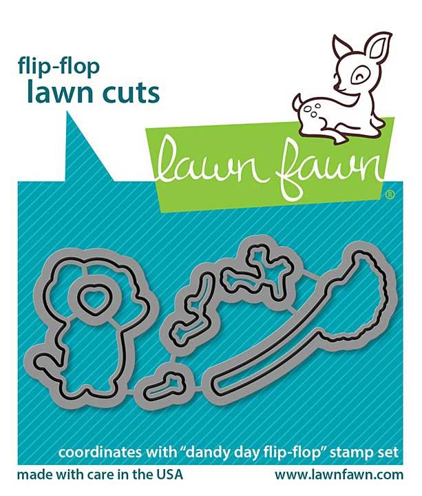 Lawn Cuts Custom Craft Die - Dandy Day Flip-Flop