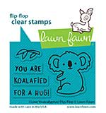 """Lawn Fawn Clear Stamps 3""""X2"""" - I Love You (Calyptus) Flip-Flop"""