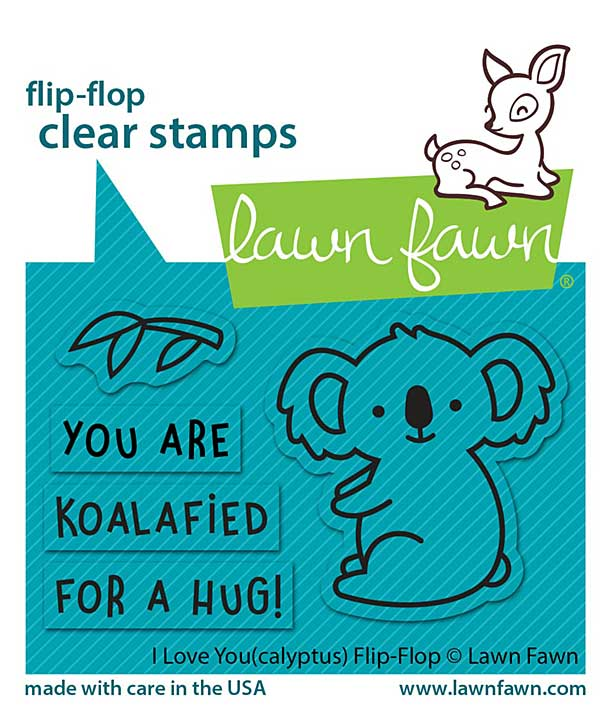 """Lawn Fawn Clear Stamps 3\""""X2\"""" - I Love You (Calyptus) Flip-Flop"""
