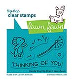 """Lawn Fawn Clear Stamps 3""""X2"""" - Dandy Day Flip-Flop"""