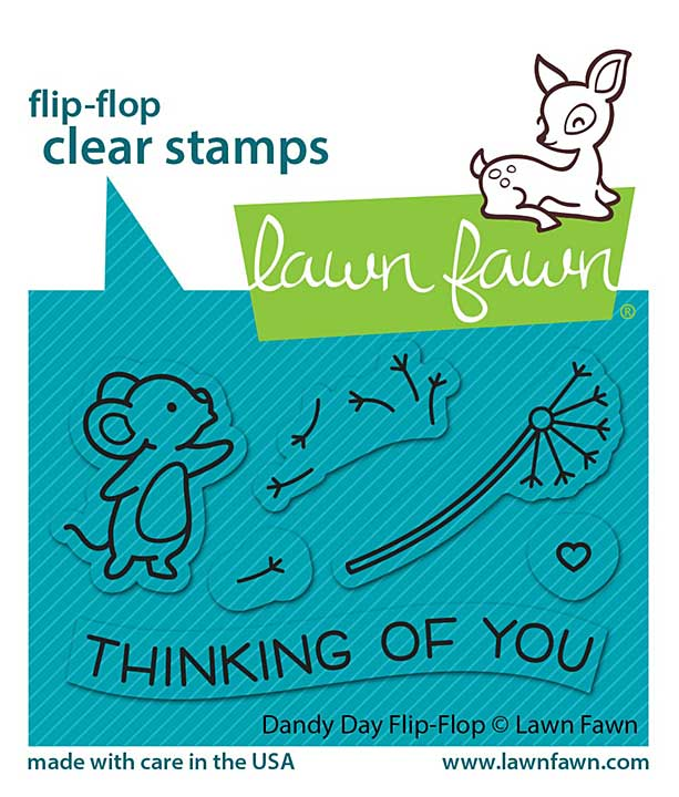 """SO: Lawn Fawn Clear Stamps 3\""""X2\"""" - Dandy Day Flip-Flop"""