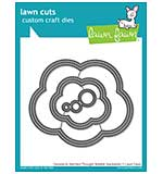 Lawn Cuts Custom Craft Die - Outside In Stitched Thought Bubble Stack