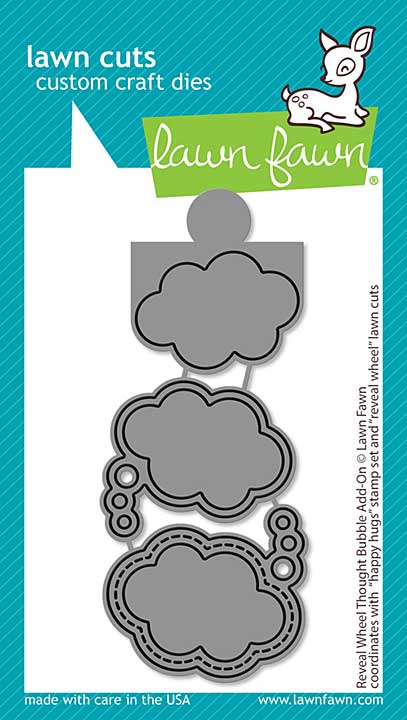 Lawn Cuts Custom Craft Die - Reveal Wheel Thought Bubble Add-On