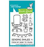 """Lawn Fawn Clear Stamps 3""""X4"""" - Virtual Friends Add-On"""