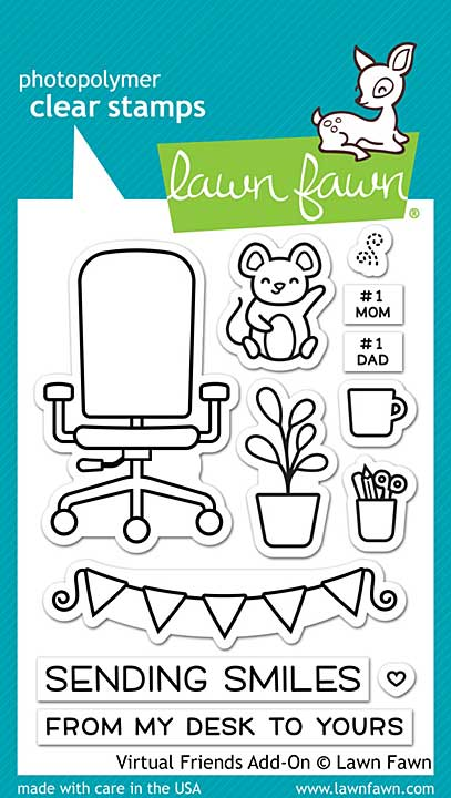 """Lawn Fawn Clear Stamps 3\""""X4\"""" - Virtual Friends Add-On"""