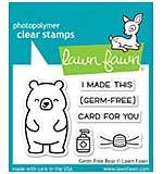 """SO: Lawn Fawn Clear Stamps 3""""X2"""" - Germ-Free Bear"""