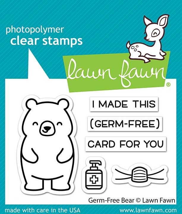 """Lawn Fawn Clear Stamps 3\""""X2\"""" - Germ-Free Bear"""