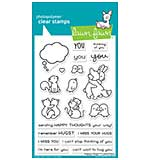 """Lawn Fawn Clear Stamps 4""""X6"""" - Happy Hugs"""